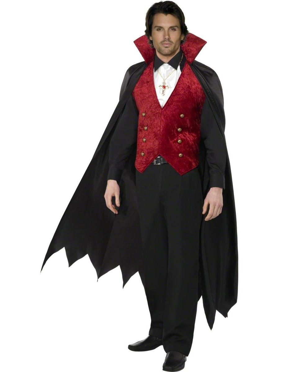 INTRIGUE N°2- Halloween Party Costume-de-vampire-avec-gilet-cape-et-foulard_200882