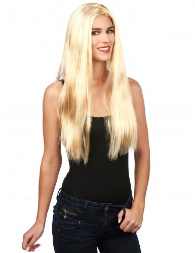 Perruque blonde femme Halloween