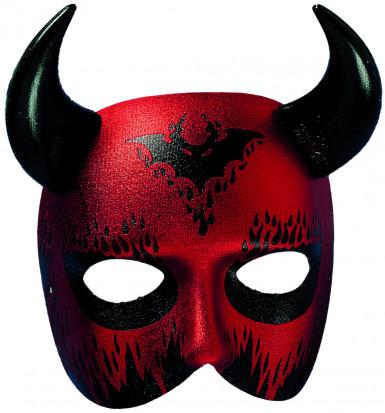 Demi-masque de diable adulte