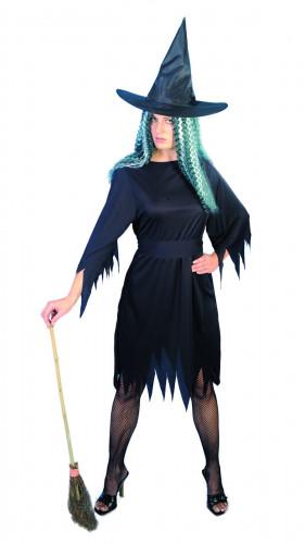 Déguisement de sorcière noir Halloween femme