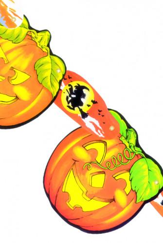Décoration guirlande citrouille Halloween
