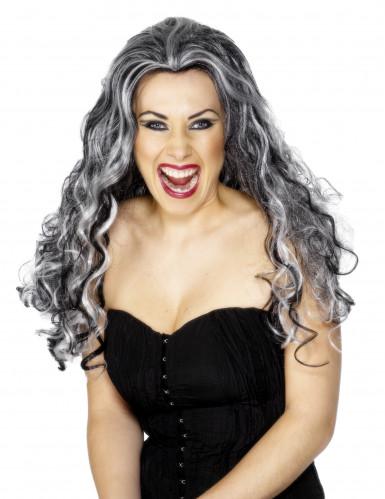 Perruque longue de vampire femme Halloween