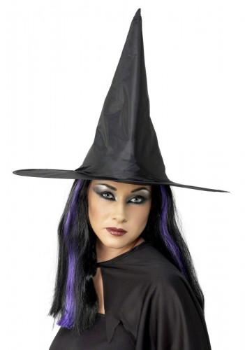 Chapeau noir de sorcière adulte Halloween
