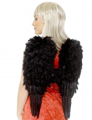 Ailes noires à plumes pour adulte