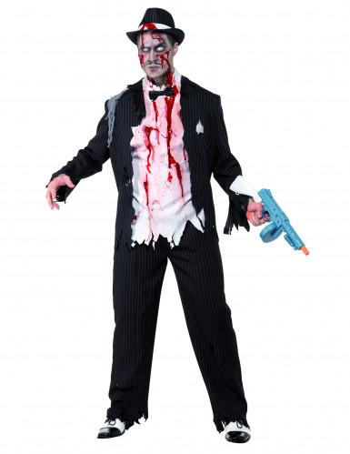 Déguisement de gangster zombie Halloween homme