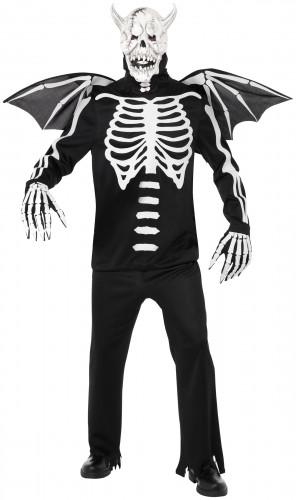 Déguisement de démon squelettique Halloween adulte