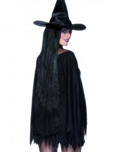 Longue perruque de sorcière femme Halloween