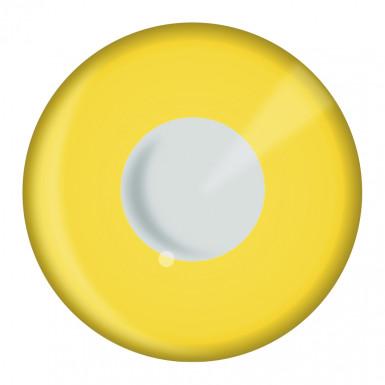 Paire de lentilles de contact jaunes adulte Halloween