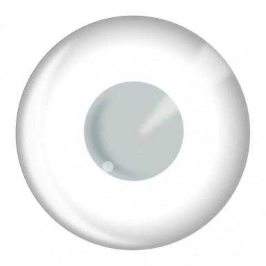 Paire de lentilles de contact blanches adulte Halloween