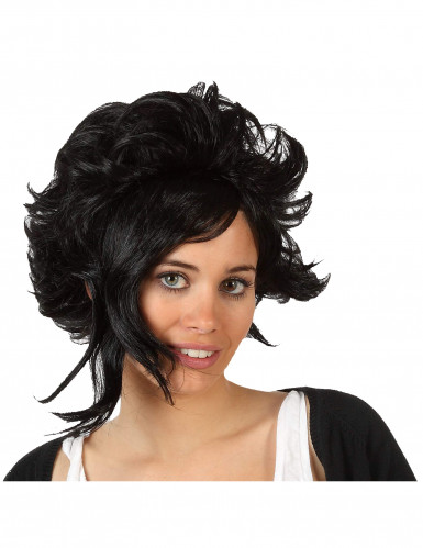 Perruque Moderne Noire Femme Halloween
