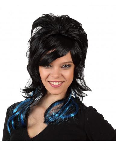 Perruque Stylée Noire Femme Halloween