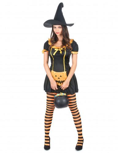 Déguisement de sorcière citrouille femme Halloween