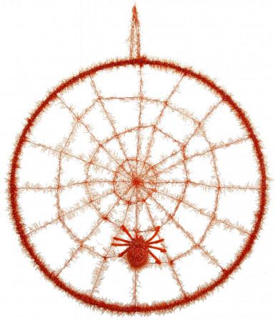 Toile d'araignée orange