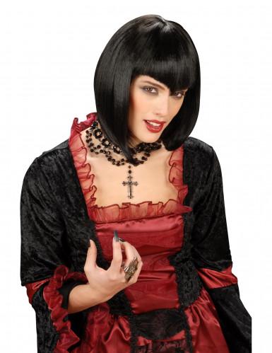 Perruque de gothic noir femme