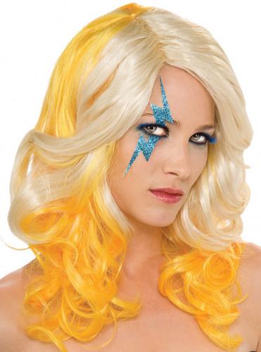 Perruque Lady Gaga? blonde et jaune femme