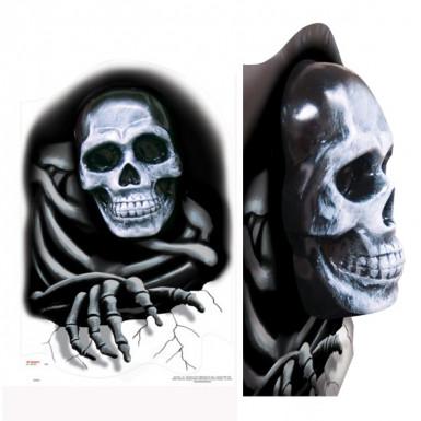 Stickers 3D tête de mort