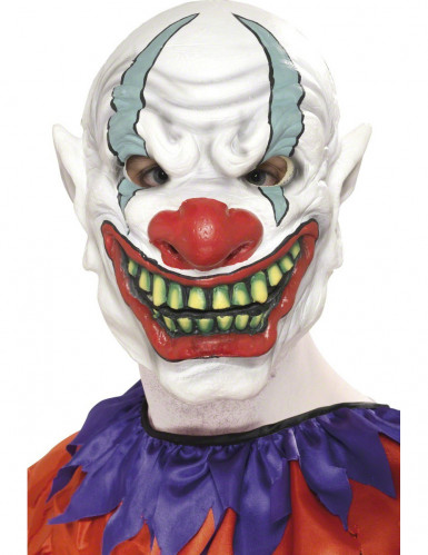 Demi-masque de clown Halloween adulte