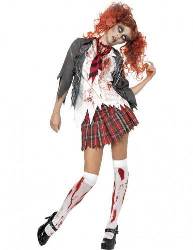 Déguisement décolière zombie Halloween