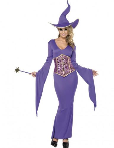 Déguisement de sorcière violette femme