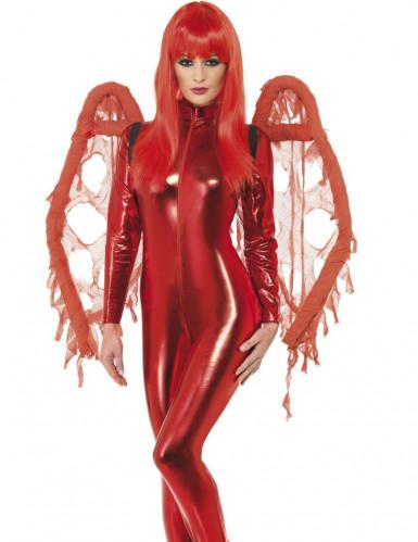Ailes rouges gothique Halloween pour adulte