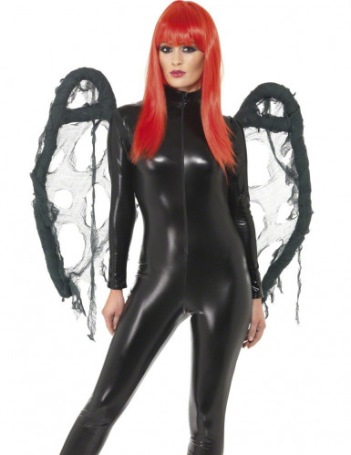 Ailes noires gothique Halloween adulte