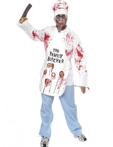 Déguisement de chef cuisinier zombie adulte