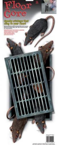 Stickers bouche d'égout avec rats
