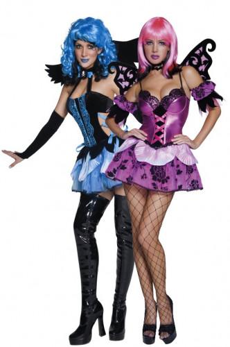 Déguisements de couple d'ange et d'elfe de la nuit Halloween