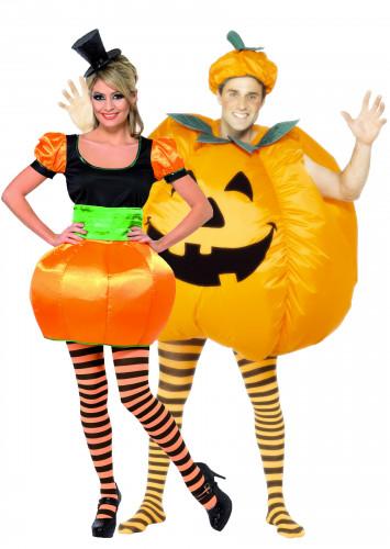 Déguisements de couple citrouilles Halloween