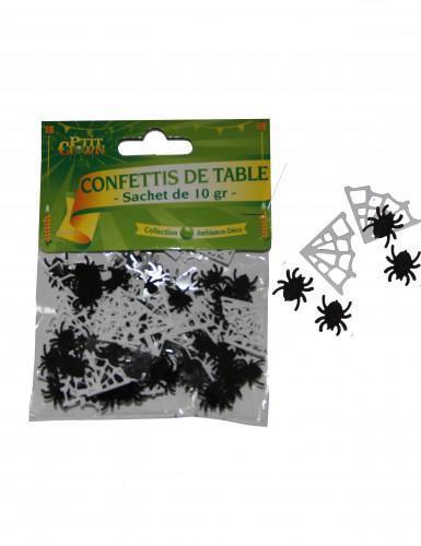 Confettis de table araignées avec toiles Halloween