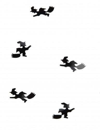 Confettis de table sorcières avec balais Halloween