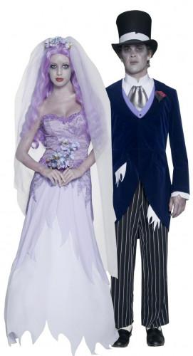 Déguisements de couple de mariés gothiques Halloween