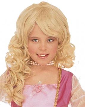 Perruque blonde de princesse pour filles