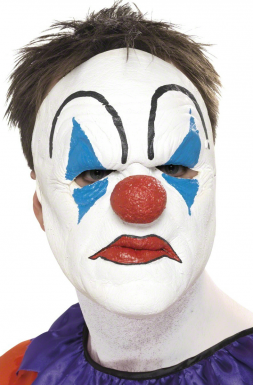 Demi-masque de clown