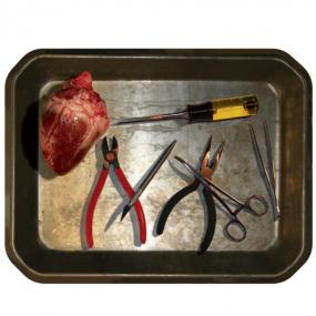 Décoration plateau de chirurgie Halloween