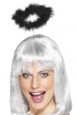 Serre-tête auréole noire adulte Halloween