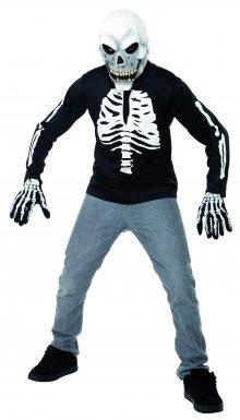 Tee-shirt de squelette Halloween
