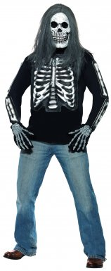 Tee-shirt squelette adulte Halloween