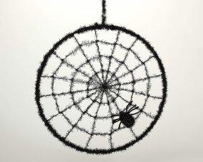 Toile d'araignée noire en cercle