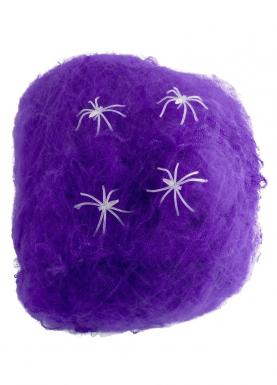 Décoration toile d'araignée violette