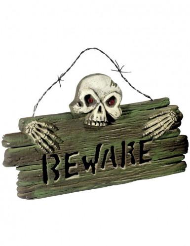 Décoration plaque porte halloween