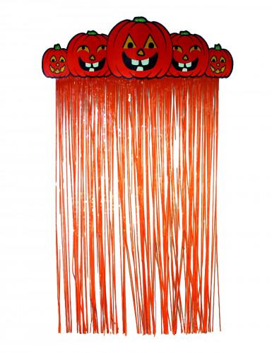 Rideau de porte citrouille Halloween