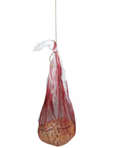 Décoration sac ensanglanté avec cerveau
