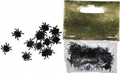 Confettis de table araignées noires Halloween