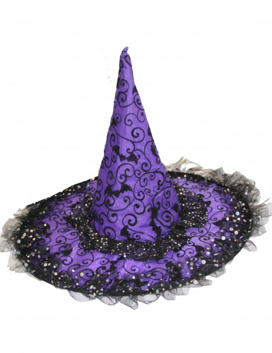 Chapeau soucière violet et noir
